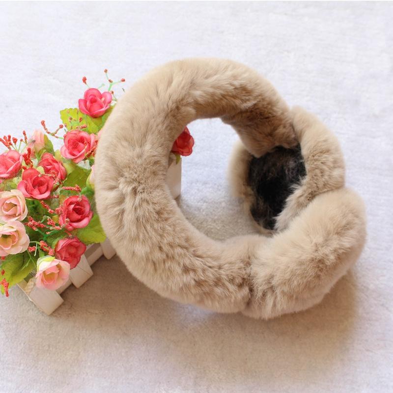 [해외]진짜 토끼 모피 겨울 방한용 귀 가리개 우아한 토끼 모피 겨울 귀 muffs 따뜻하게 커버 귀 패션  헤드폰 femme/real rabbit fur winter earmuffs for girl Elegant Rabbit Fur Winter Ear muffs Wa