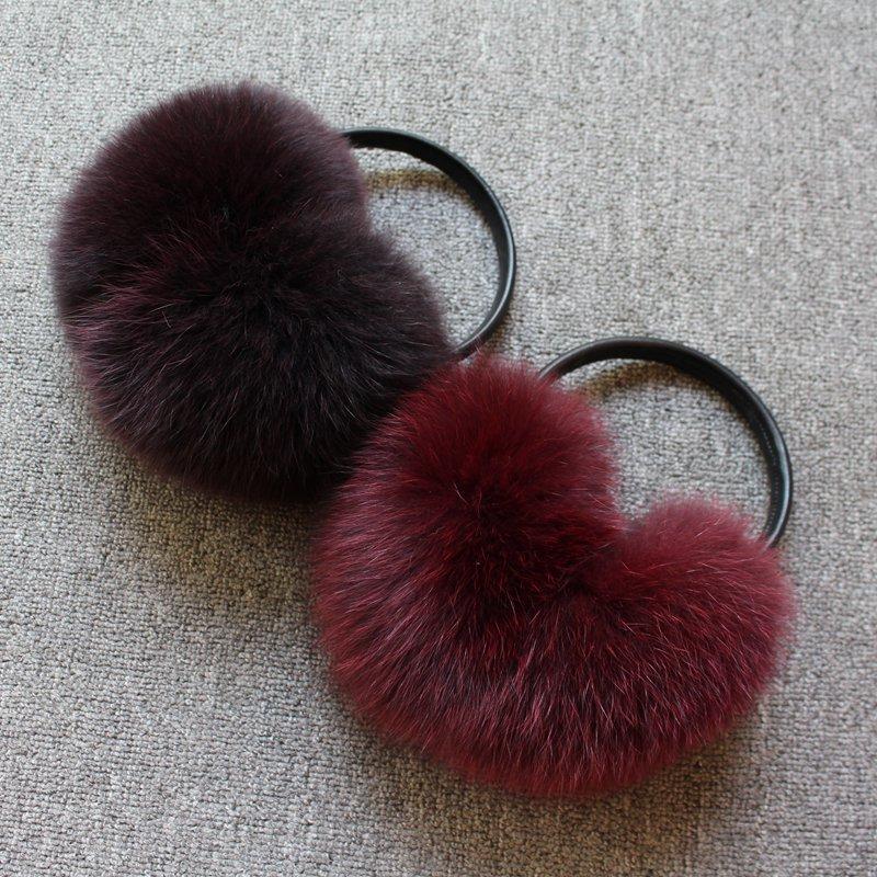 [해외]2018 패션 여성 겨울 귀 프로텍터 여성 진짜 폭스 모피 muffs gilr  여우 모피 헤드폰 이어폰 커버/2018 new arrival fashion women winter ear protector covers for women real fox fur mu