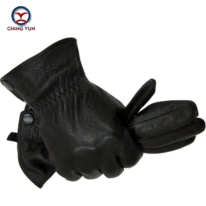 [해외]2016 새로운 겨울 남자 사슴 피부 가죽 장갑 남성 따뜻하고 부드러운 장갑 흑인 남성 장갑 양의 머리 안감 버튼 -03/2016 New Winter man deer skin leather gloves male warm soft gloves black men m