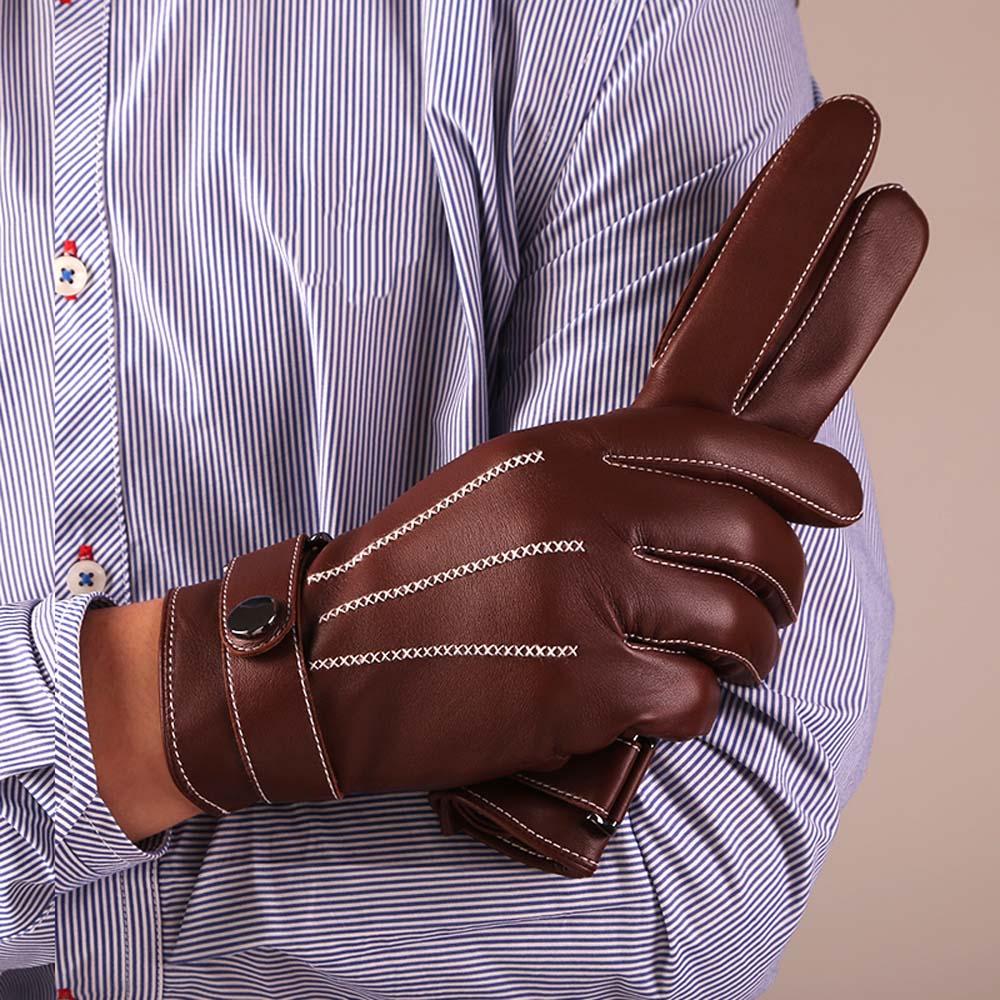 [해외]KURSHEUEL 최고의 럭셔리 터치 스크린 남성용 남성 나파 가죽 장갑 Texting Driving Cashmere Lining/KURSHEUEL  Best Luxury Touchscreen Italian Nappa Leather Gloves for men&s