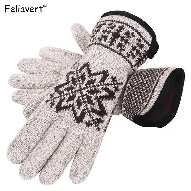 [해외]BRAND NEW 겨울 장갑 망 캐시미어 두꺼운 따뜻한 실외 라이드 장갑 패션 눈송이 전체 손가락 장갑 회색 한 사이즈/BRAND NEW Winter Gloves Mens Cashmere Thick Warmer Outdoor Ride Gloves Fashion