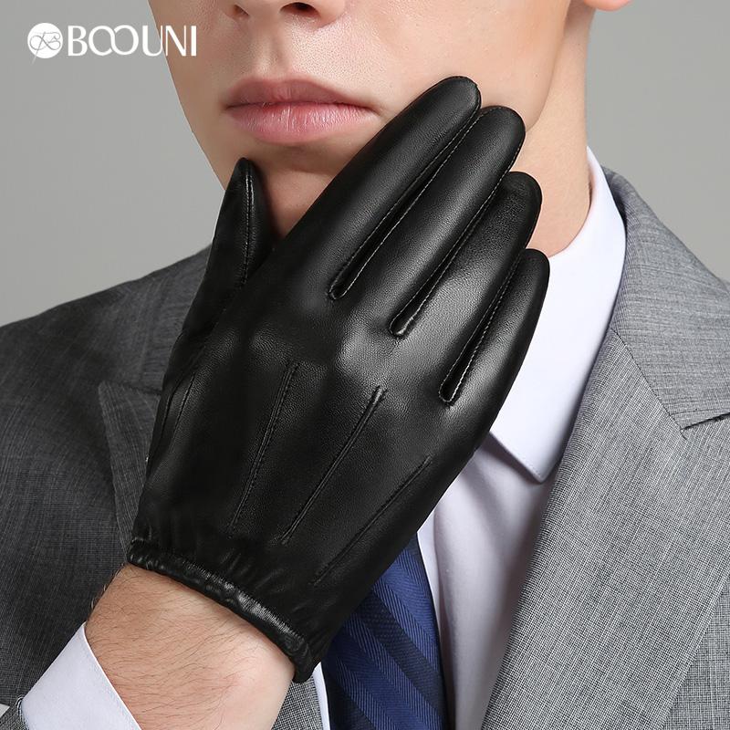 [해외]BOOUNI  가죽 남성 장갑 가을 겨울 플러스 벨벳 패션 트렌드 우아한 남성 가죽 장갑 NM792B 운전에 대 한/BOOUNI Genuine Leather Men Gloves Autumn Winter Plus Velvet Fashion Trend Elegant