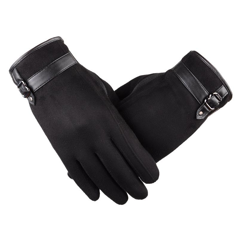 [해외]2017 새로운 남성의 가을과 겨울 장갑 블랙 겨울 장갑 남성과 장갑은 따뜻한 터치 스크린 Windproof 운전 Guantes 유지/2017 New Male Autumn and Winter Gloves Black Winter Mittens Men&s Glove