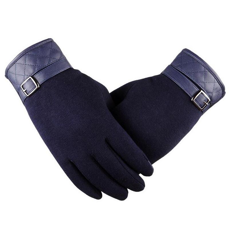 [해외]양모 가죽에 대 한 남자의 패션 블랙 겨울 따뜻한 장갑 손목 소프트 카시 미어 터치 스크린 장갑 운전 장갑 G122/Men&s  Fashion Black Winter Warm Gloves For Wool Leather Wrist Soft Cashmere Touc
