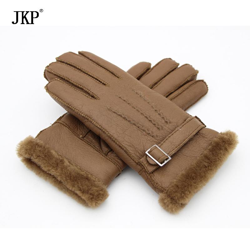 [해외]2017 새로운 겨울 패션 진짜 가죽 모피 모피 여성 장갑 무거운 유형 온난 한 남성 양피 가죽 모피 장갑/2017 New Winter Fashion Real Leather Wool Fur Women Gloves Heavy Type Warming Male She