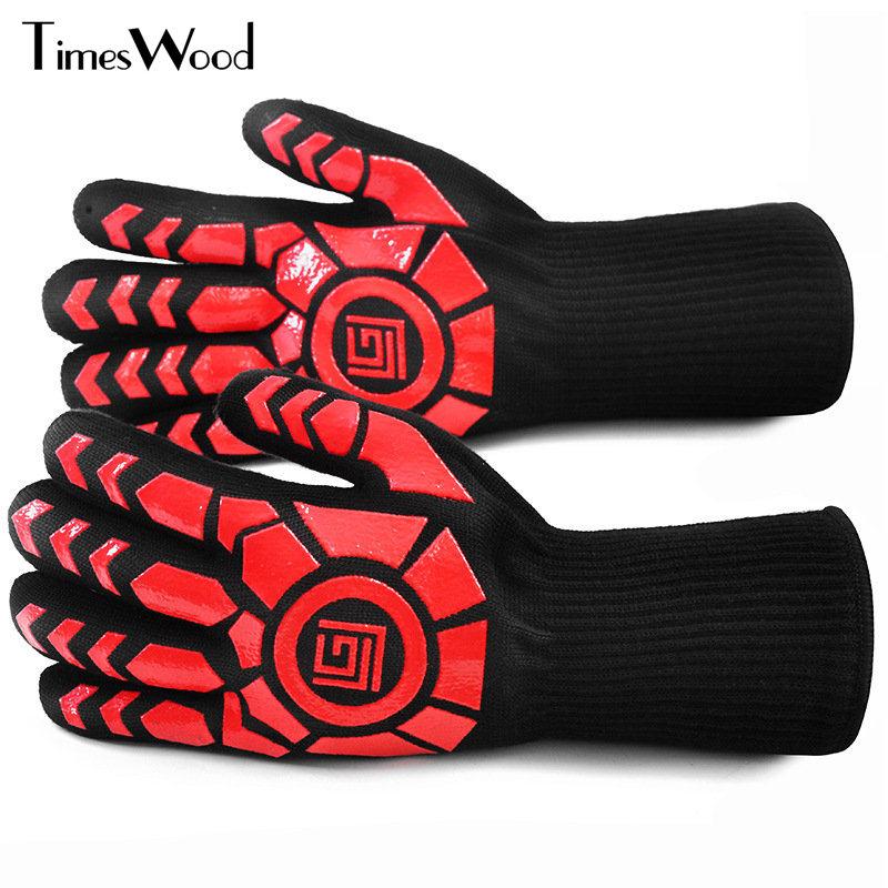 [해외][TIMESWOOD] 노 멕스 장갑 손목 보호용 고온 장갑 반창고 요리 장갑/[TIMESWOOD]  Anti-Scalding High Temperature Gloves Nomex Mittens Wrist Working Cooking Glove
