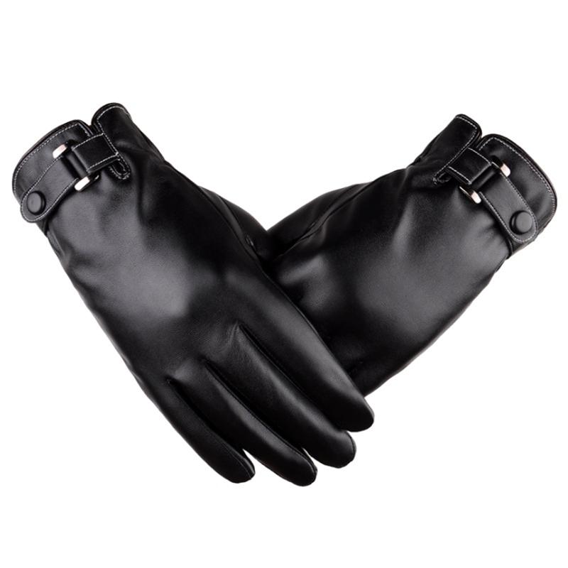 [해외]높은 판매 새로운 스타일 가을 / 겨울 패션  가죽 블랙 남자 따뜻한 터치 스크린 장갑 / 남자 운전 장갑/High sales  New style autumn/winter Fashion genuine leather black  men warm touch scre