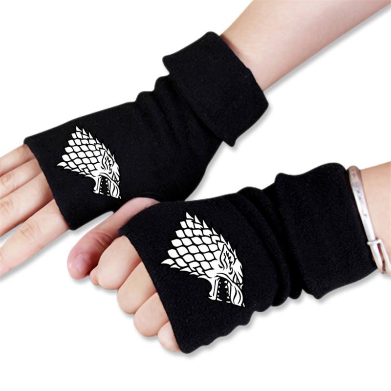 [해외]남성 여성 스턴스 게임 스탁 겨울 온 겨울 반구형 장갑 코스프레 액세서리/Men Women Game of Thrones Stark Winter is Coming Winter Warm Half Finger Glove Cosplay Accessories