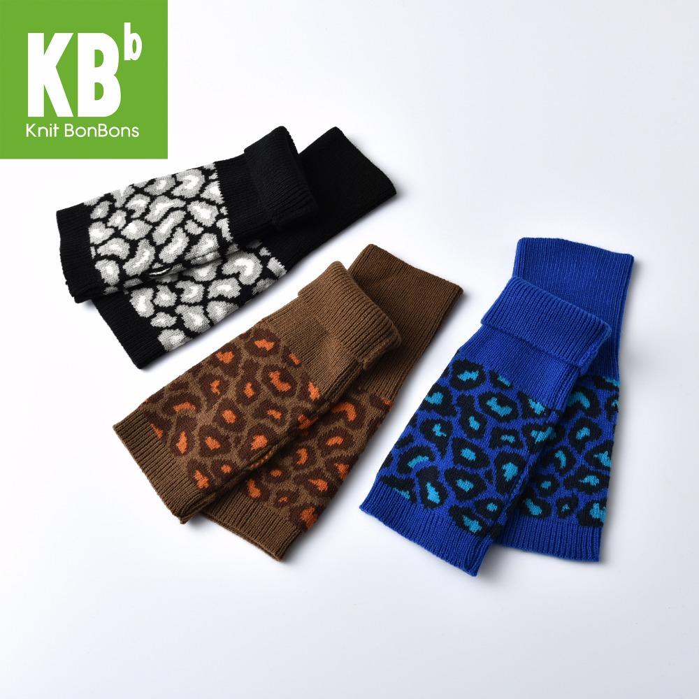 [해외]KBB 여성 남성 아동 패션 봄 레오파드 패턴 어린이 니트 장갑 겨울 긴 핑거리스 장갑 여성 손 워밍업/KBB Women Men Children Fashion Spring Leopard pattern Kids Knit gloves Winter long Finge