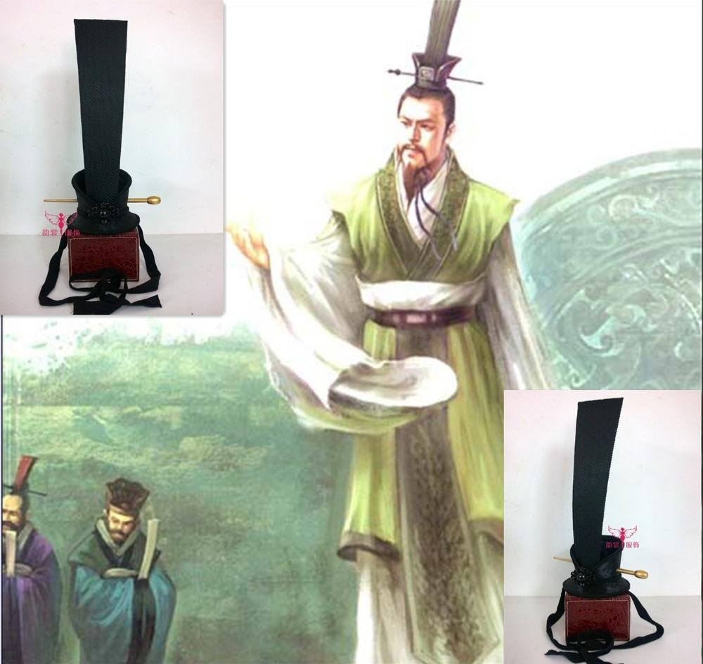 [해외]Hanfu 머리 Tiaras 삼국 시대 수련의 황제 LiuBei Hat 어 위대한 시인 QuYuan 머리 Tiaras 남성 코스프레 모자에 대한/Hanfu Hair Tiaras Three Kingdoms Period Emperor of Shu LiuBei Hat