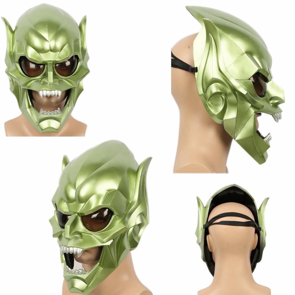 [해외]스파이더 맨 그린 고블린 마스크 전체 얼굴 COSplay 악마 괴물 지팡이 크리스마스 선물 XCOSER/Spider-Man Green Goblin Mask Full Face COSplay Devil Monster Prop Christmas Gift XCOSER