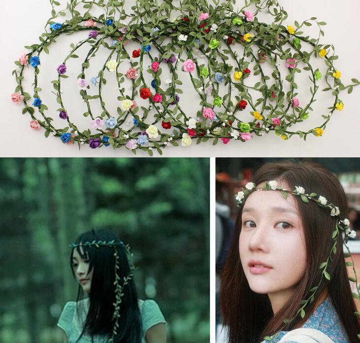 [해외]10pcs / lot 여성 수 제 화 환 12 꽃 머리 띠 신부 웨딩 착용에 대 한 더 많은 색상/10pcs/lot Women Handmade Wreaths 12 Flowers Headband More Colors For Bride Wedding Wear