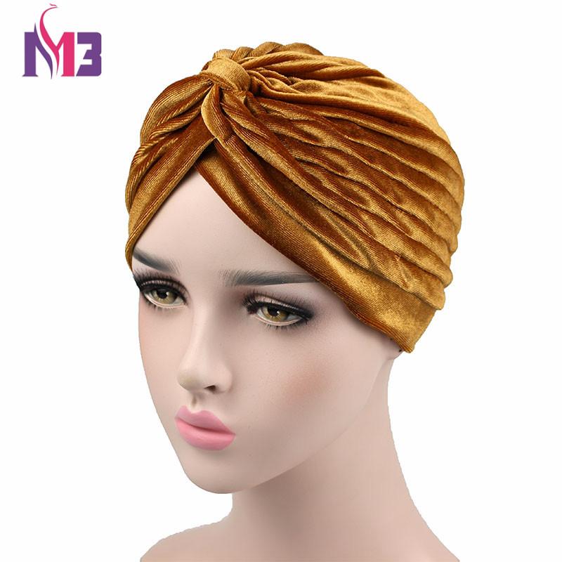 [해외]여성을새로운 패션 여성 벨벳 터번 트위스트 스트레치 네온 터빈 벨벳 Hijab Turbante 터번 머리띠/New Fashion Women Velvet Turban Twist Stretch Neon Turban For Women Velvet Hijab Turba