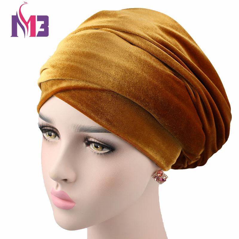 [해외]새로운 패션 여성 벨벳 긴 Turban의 머리띠 다목적 여분의 긴 벨벳 Women & s Hijab Headwrap Turbante 헤드 스카프 타이/New Fashion Women Velvet Long Turban Headband All-purpose