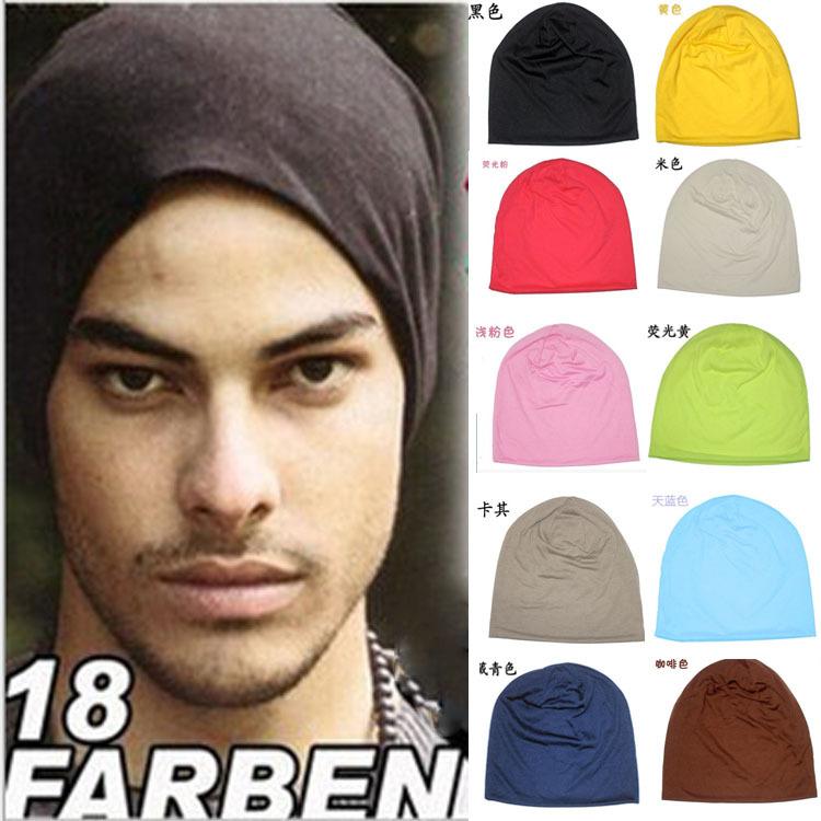 [해외]남성 여성 캔디 컬러 심플 스타일 모자 소프트 스트레치 원단 모자 무료 사이즈/Men Women Candy Color Simple Style Hat Soft Stretch Fabric Hat Cap Free Size