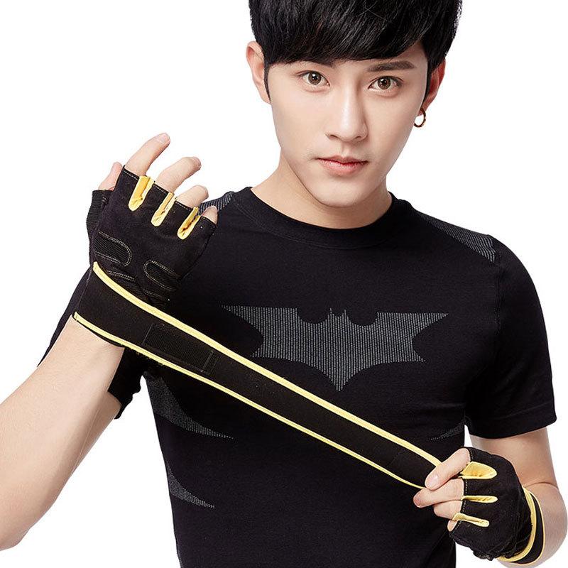 [해외]새로운 패션 남자 여성 휘트니스 세미 손가락 장갑 통풍 패브릭 손 보호 장갑 38CM 붕대/New Fashion Men Women Fitness Semi Finger Gloves Ventilation  Fabric Hand Protection Gloves 38C