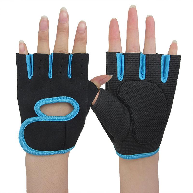 [해외]새로운 패션 남자 여성 휘트니스 장갑 세미 절반 손가락 장갑 손 보호/New Fashion Men Women  Fitness Gloves Semi Half Finger Gloves Hand Protection