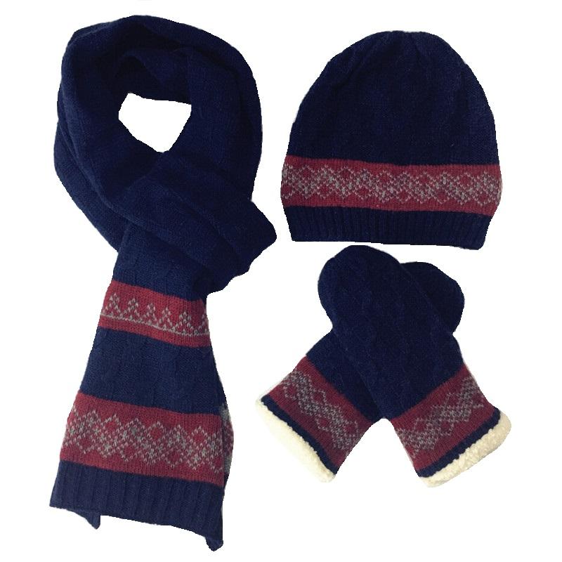[해외]2017 New Arrival Wool 남성 & 스카프 장갑 3 피스 따뜻한 가을 겨울 남성 니트 스카프, 모자 & 스카프 장갑 세트/2017 New Arrival Wool Men&s Hats Scarves Gloves three - piece W