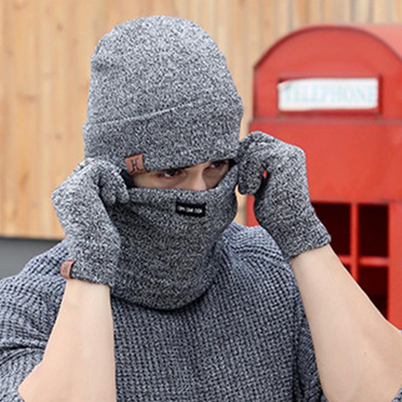 [해외]3 PCS 양모 따뜻한 장갑 모자와 스카프 2017 겨울 모자를 설정 Beanies 망 스카프 목 따뜻한 얼굴 쉴드 마스크/3 PCS Wool Knitted Warm Gloves Hat And Scarf Set For Woman 2017 Winter Caps B