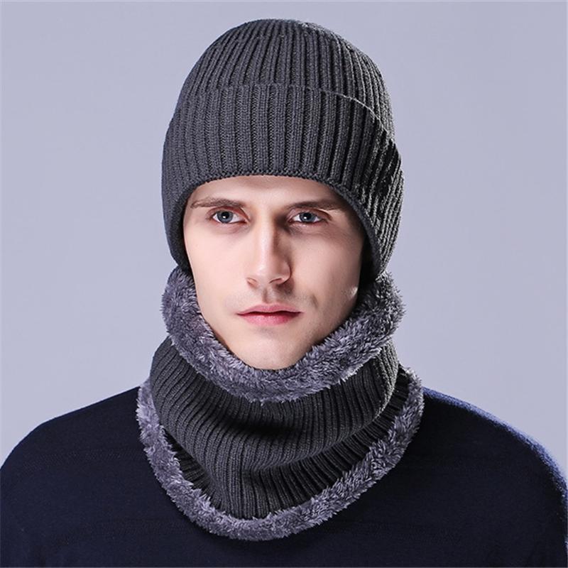 [해외]XIANXIANQING 겨울 솔리드 남성 모자 + 스카프 세트 모직 뜨개질 모자 모든 일치 스카프 남성 스카프 남성 모자 세트 패션 27550/XIANXIANQING Winter Solid Men Hat + Scarf Set Woolen knitting Caps