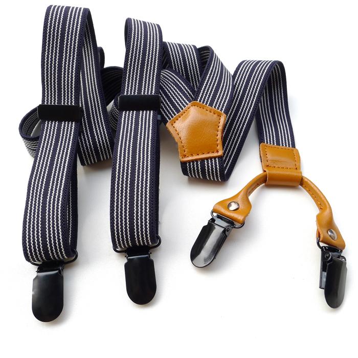 [해외] 패션 모든 일치 블랙 스트라이프 멜빵 남성과 멜빵  가죽 탄성 멜빵 바지 장식/Free shipping Fashion all-match black stripe suspenders men&s suspenders  genuine leather elastic sus