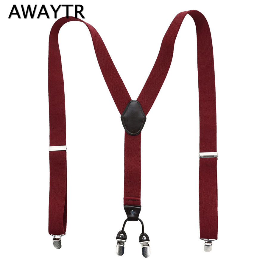 [해외]AWAYTR 남성용 비즈니스 캐주얼 바지 Suspensorio Menino Strap 4 Clip Leather Sleppers 스페셜 선물 아버 지날/AWAYTR New Men&s Business Casual Trousers Suspensorio Menino