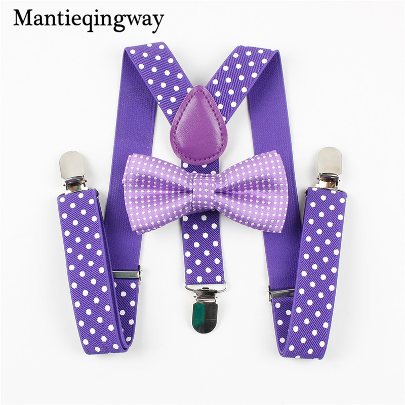 [해외]Mantieqingway 소년 Gilrs 어린이를서스펜션 Bowties 세트 웨딩 Bowties 멜빵 아기 Kids 폴카 점 Bow Ties Braces Belt/Mantieqingway Boys Gilrs Suspender Bowties Set For Chil