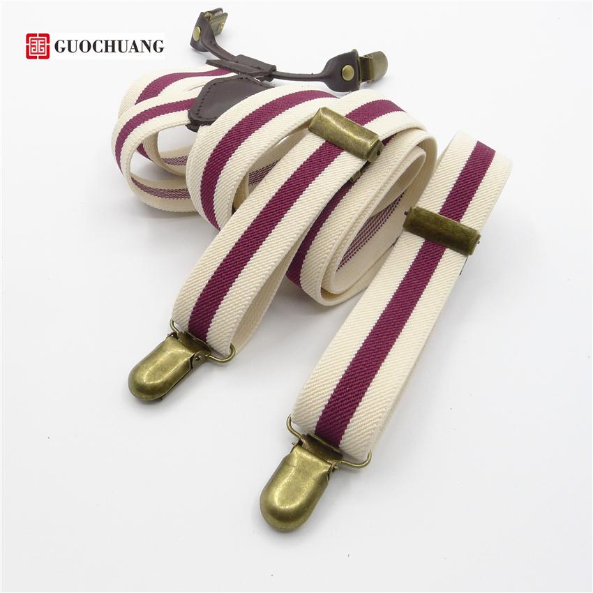 [해외]빈티지 남성 패션 여성 & 멜빵 원래 복고풍 멜빵 남성 맞춤 장식 가죽 탄성 스트랩 클립/Vintage male fashion women&s suspenders Original retro suspenders men  Personalized  decorat