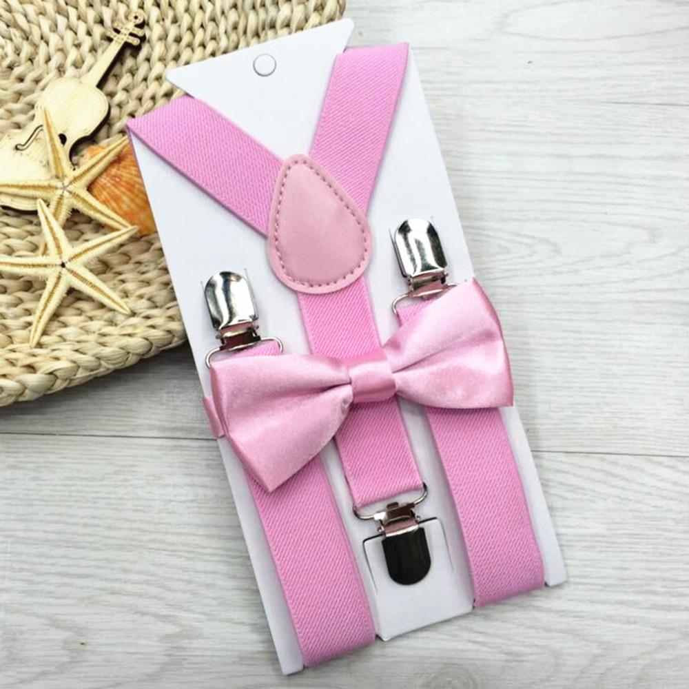 [해외]조정 및 탄성 13 색 어린이 SuspendersBowtie 나비 넥타이 매칭 넥타이 의상 여자 소년을Hot 서스펜더/Adjustable and Elasticated 13 Colors Kids SuspendersBowtie Bow Tie Set Matching