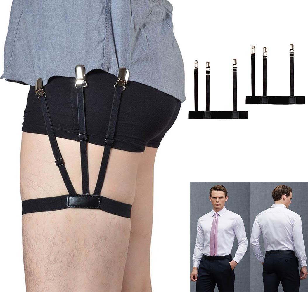 [해외]1 쌍의 망 셔츠는 가터 홀더를 조정할 수있는 셔츠 홀더 저항 벨트 셔츠를 잠그는 남자를 위해 잠근다 Clamps0921/1 Pair Mens Shirt Stays Garters Holder Adjustable Shirt Holders Resistance Bel