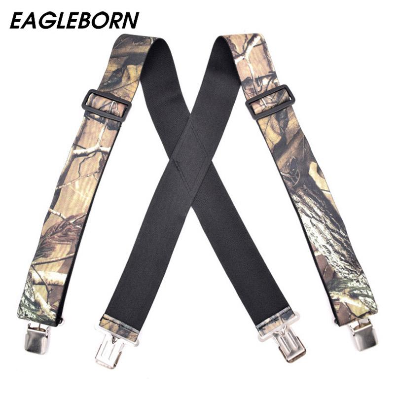 [해외]2017 멜빵 멜빵 멜빵 멜빵 빈티지 야외 스트랩 Bretelles 성인 4clips suspensorio Tirantes 5 * 125cm/2017 Suspenders Camouflage Suspenders Braces Vintage Outdoor Straps