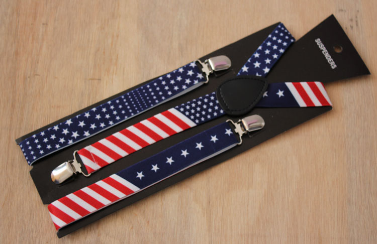 [해외]영국식 국기 무늬 멜빵 남성 여성용 멜빵 2.5cm/British style  national flag pattern suspenders male women&s suspenders 2.5cm