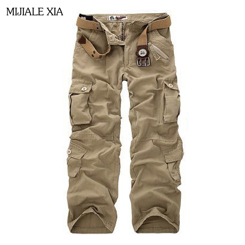 [해외]?남성용 카고 바지 따뜻한 캐주얼 바지 팬츠면 바지 남성 위장 남성용 바지 6 색 플러스 사이즈 42/ Men&s Cargo Pants Warm Casual Baggy Pants Cotton Trousers Men Camouflage Men Pants 6 col