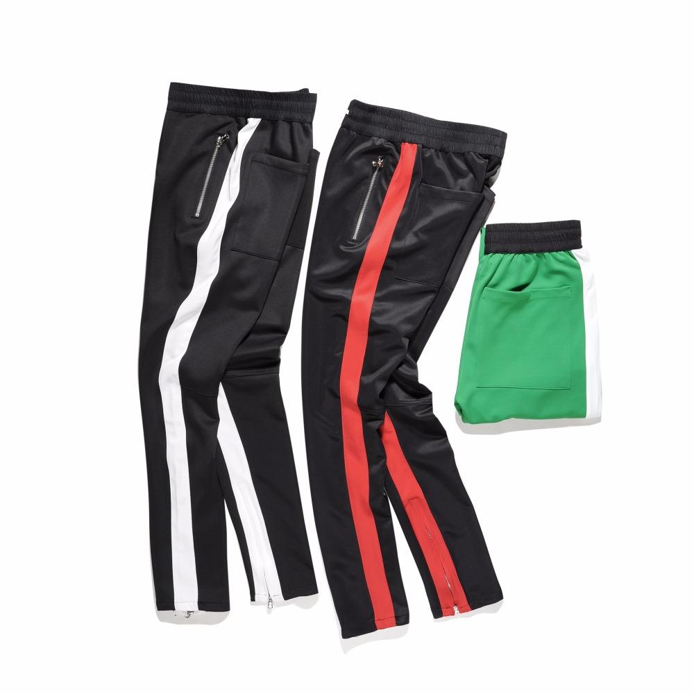 [해외]고품질 2017 패션 의류 스플 라이스 바느질 측면 지퍼 힙합 하이 스트리트 캐주얼 바지 운동복 조깅 공/High quality 2017 Fashion clothing Spliced stitching bottoms side zipper Hip Hop high s