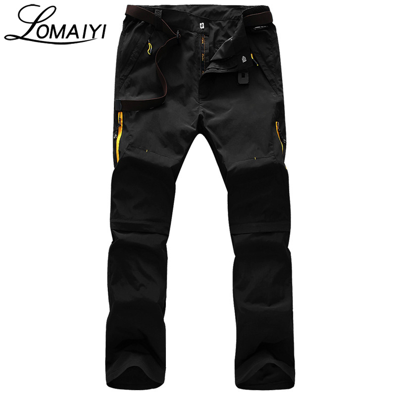 [해외]LOMAIYI 이동식 다리 남성 캐주얼 바지 2017 여름 패션 남성 운동복 에이미 그린 얇은 바지 카키색 망 카고 바지, AM096/LOMAIYI Removable Legs Men Casual Pants 2017 Summer Fashion Male Sweatp