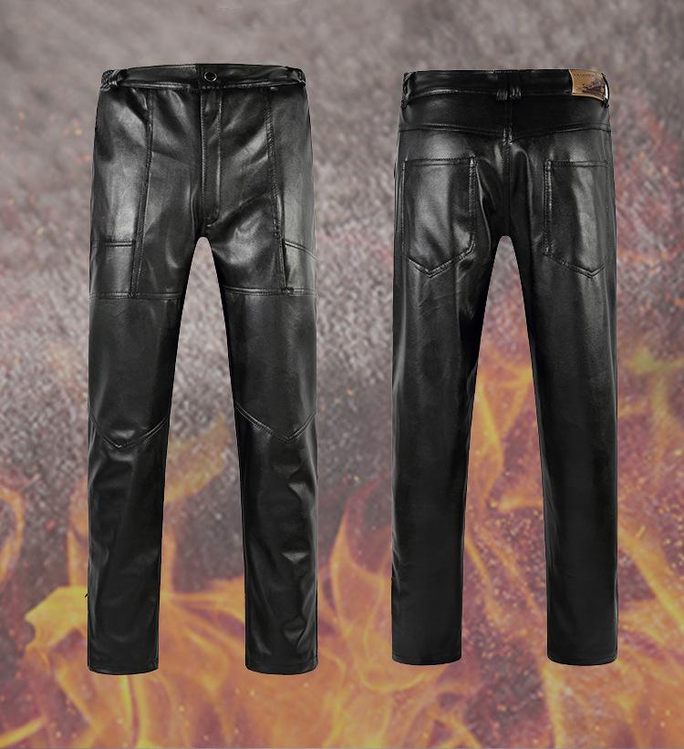 [해외]남성 스키니 연필 PU 가죽 바지 남자 솔리드 슬림 피트 가짜 가죽 바지 힙합 오토바이 트레이닝 복 zc2291001/New Arrival Male Skinny Pencil PU Leather Pants Men Solid Slim Fit Faux Leather