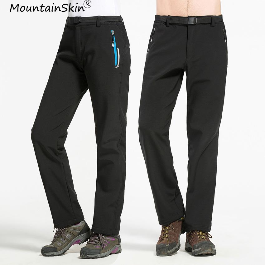 [해외]산악 남성 여성 겨울 양 털 바지 따뜻한 캐주얼 방풍 방수 바지 남성 여성 열 바지 남성 브랜드 LA588/Mountainskin Men Women Winter Fleece Pants Warm Casual Windproof Waterproof Pant Male