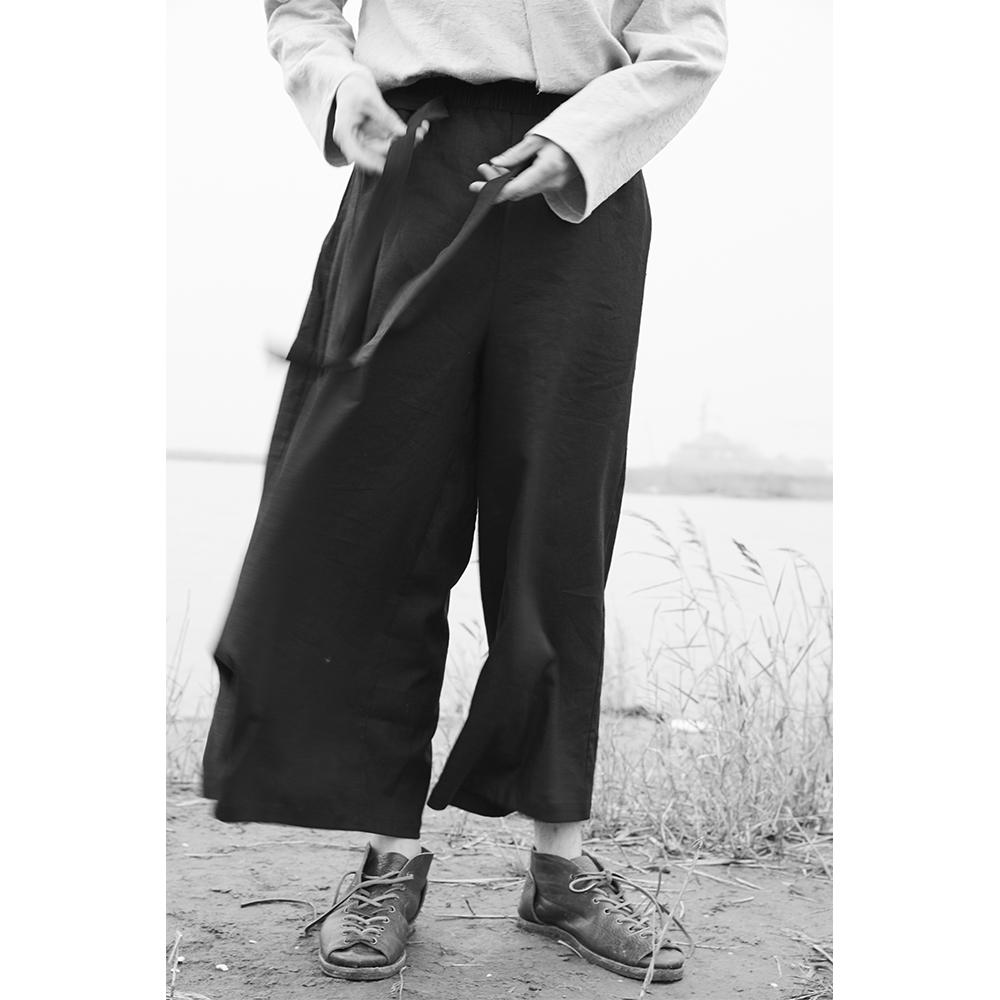 [해외]?신사복 플러스 SIZE 독립 디자이너 오리지널 빈티지 Linen culottes 가랑이 와이드 팬츠 가발 9 바지/ New Men&s Clothing PLUS SIZE Independent designer Original Vintage Linen culotte