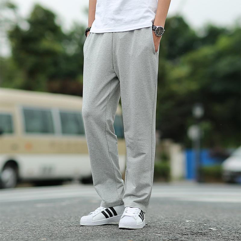 [해외]남성 바지 플러스 사이즈 2018 봄, 가을 탄력성 남성 느슨한 스트레이트 바지 학생 캐주얼 바지 5XL 6XL 레드 블랙 그레이/Men pants plus size 2018 spring and autumn elastic male loose straight tr