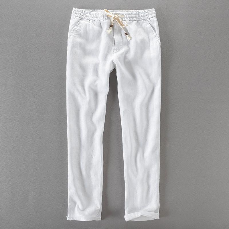[해외]브라질 브랜드 긴 바지 남자 비즈니스 캐주얼 신축성 바지 비즈니스 남성 솔리드 바지 남성 바지 남성 40 바지/Brazil brand long pants men linen fashion trousers men casual elastic pants mens bus