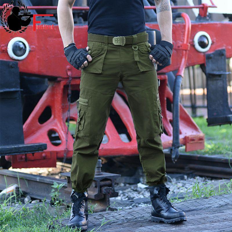 [해외]필드 캐주얼 육군 조깅 남자들의 전술 많은 포켓 지퍼화물 바지 전투 코튼 스트레이트 남성 바지 블랙 그린/Field Lived Casual Army Joggers Men&s Tactical Many Pocket Zipper Cargo Pants Combat Co