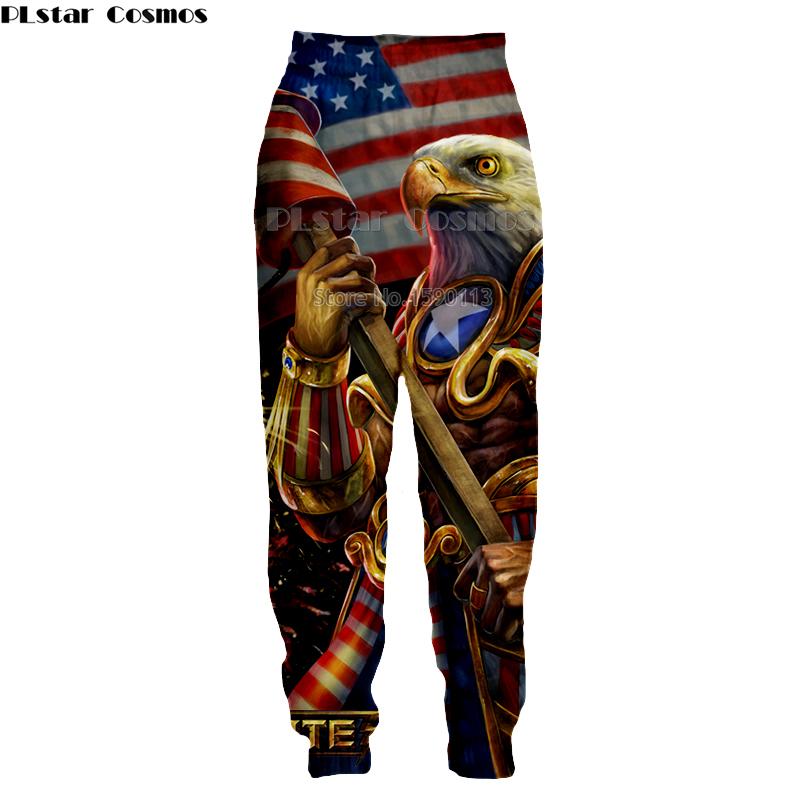 [해외]PLstar Cosmos 독수리와 미국 국기 하라주쿠 남성 / 여성 바지 조깅 바지 3D 인쇄 스웨트 팬츠 힙합 바지/PLstar Cosmos The eagle and the American flag  Harajuku Men/Women Baggy Jogger P