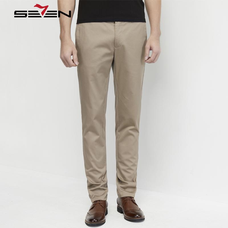 [해외]Seven7 캐주얼 바지 남성 플러스 사이즈 2018 남성과 여름 봄 100 % 코튼 슬림 스트레이트 패션 긴 바지 남성 바지 114S80082/Seven7 Casual Pants Men Plus Size 2018 Men&s Summer Spring 100% C