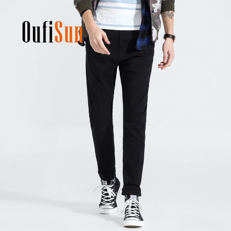 [해외]Oufisun 2018 남성 캐주얼 바지 남성 코튼 슬림 맞는 Chinos 패션 바지 남성 브랜드 의류/Oufisun 2018 New Casual Pants Men Cotton Slim Fit Chinos Fashion Trousers Male Brand Clo