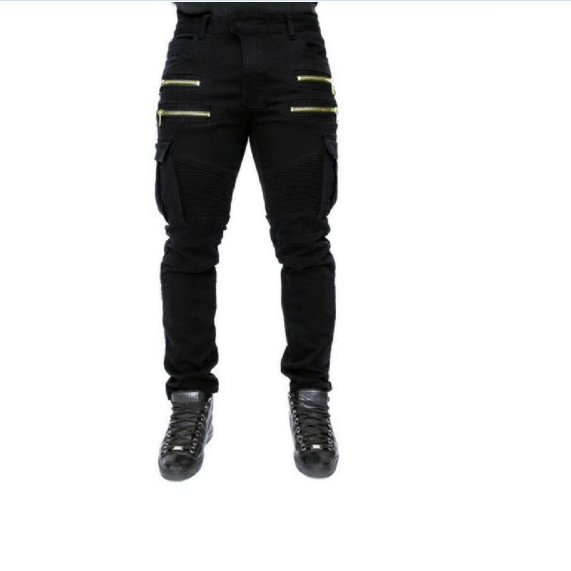 [해외]남성면 100 % 슬림 스트레치 청바지 남성 전체 길이 지퍼 탄성 카우보이 청바지 패션 육군 녹색 데님 바지/Men 100% Cotton Slim Stretch Jeans Male Full Length Zipper Elasticity Cowboy Jeans Fa