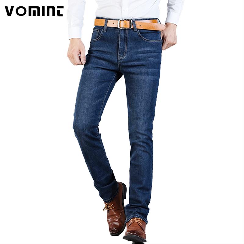 [해외]2017 Vomint 브랜드 패션 가을 비즈니스 캐주얼 남성 & 청바지 높은 스트레치 블랙 블루 데님 남성 슬림 피트 청바지 플러스 사이즈 40 42/2017 Vomint Brand Fashion Fall Business Casual Men& Jeans