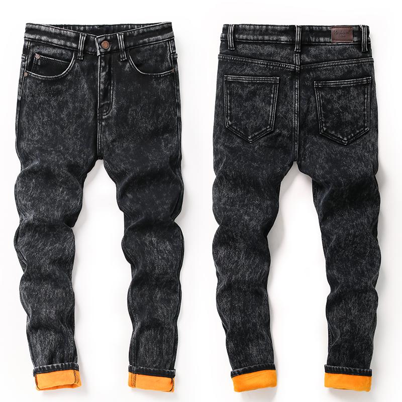 [해외]남성 겨울 데님 스키니 청바지 남성 겨울 스트레치 Thicken B 청바지 새 남성 양털 따뜻한 겨울 눈송이 청바지/MEN Winter Marm Denim Skinny Jeans Men Winter Stretch Thicken B Jeans New Men Fle