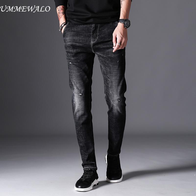 [해외]UMMEWALO 검은 색 스키니 진 남성 겨울 가을 스트레치 데님 청바지 남성 탄성 캐주얼 슬림 진 팬츠 남성 품질 청바지 옴므/UMMEWALO Black Skinny Jeans Men Winter Autumn Stretch Denim Jeans Man Elas