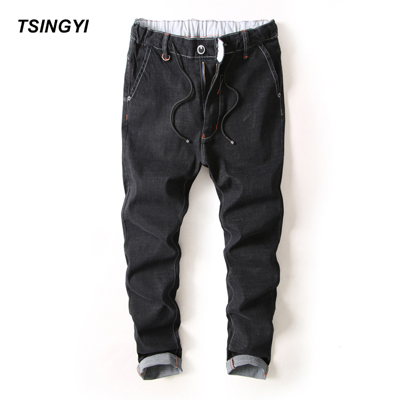 [해외]청이 할아버지 스타일 남성 탄력있는 스트레이트 진즈 옴므 디자이너 데님 하라주쿠 전체 길이 조깅 남자 팬티 플러스 사이즈 28-38/Tsingyi Do Old Style Men Elastic Straight Jeans Homme Designer Denim Har