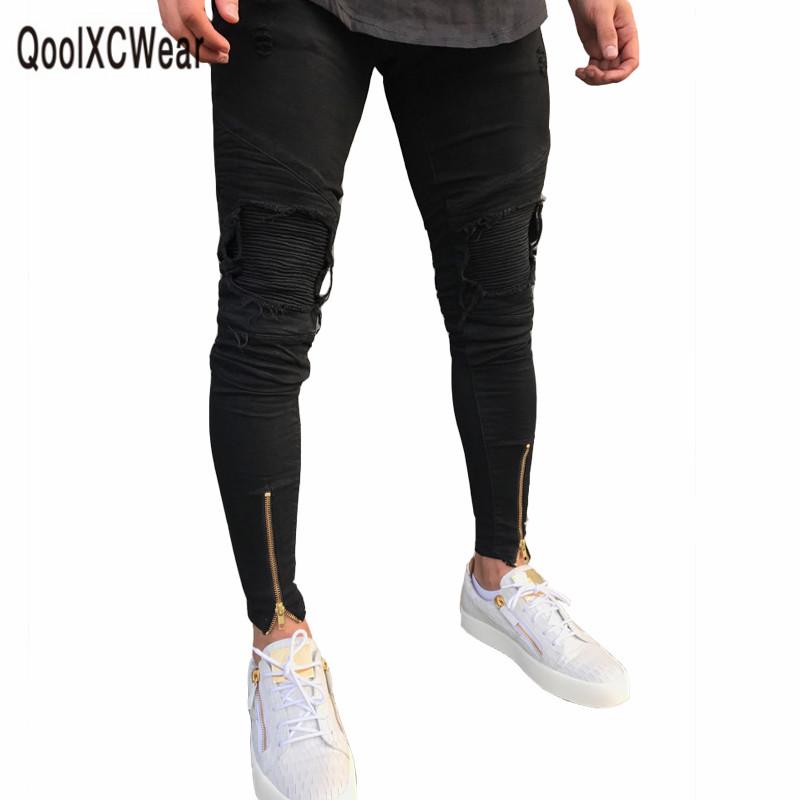 [해외]QoolXCWear 인기있는 남성 디자이너 청바지 검은 청바지 남성 캐주얼 남성 진 스키니 오토바이 고품질 데님 바지/QoolXCWear hot sell men designer jeans black jeans men casual male jean skinny m